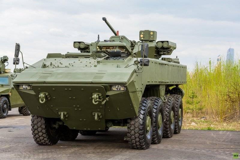 """Разработчик: БТР нового поколения К-16 на базе платформы """"Бумеранг"""" вышел на предварительные испытания"""