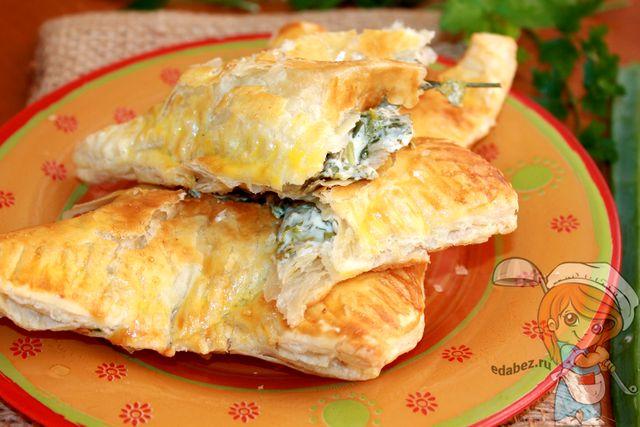 Самса с сыром, зеленью без мяса