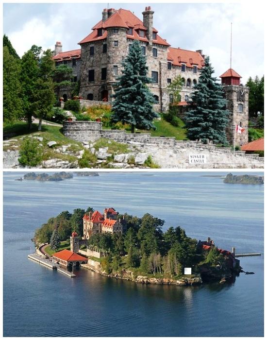 На «Темном» острове расположена резиденция «Зингер» (Архипелаг «Тысяча островов»). | Фото: masterok.livejournal.com.