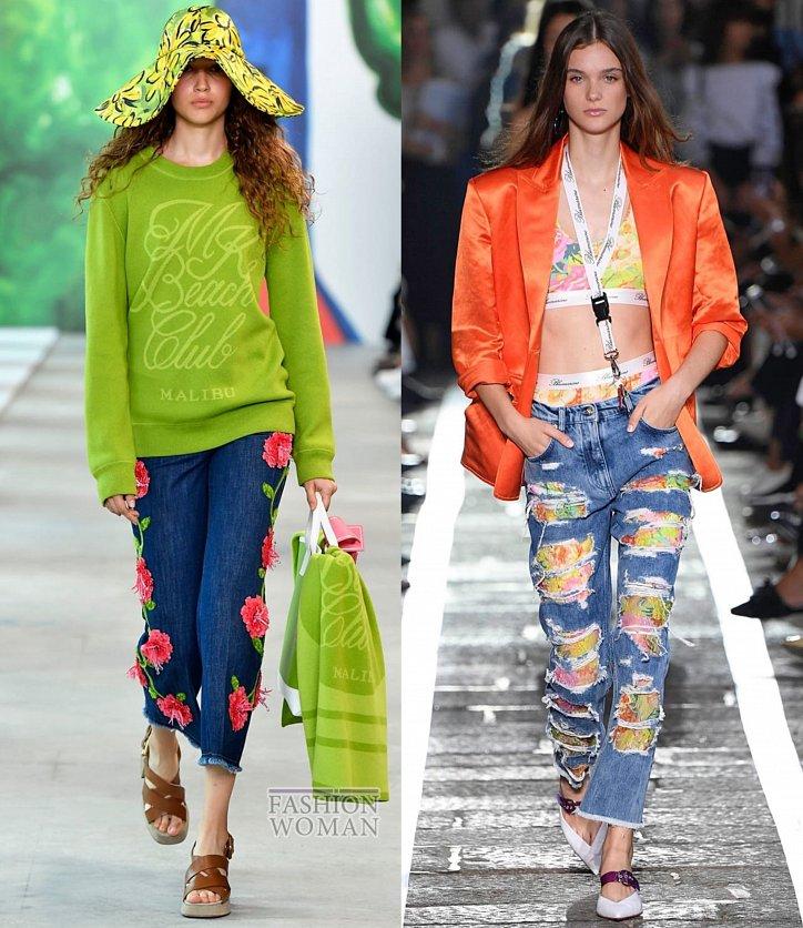 Модные джинсы весна-лето 2019 фото №40