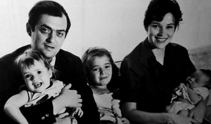 Стэнли Кубрик с женой Кристиной и дочерьми.