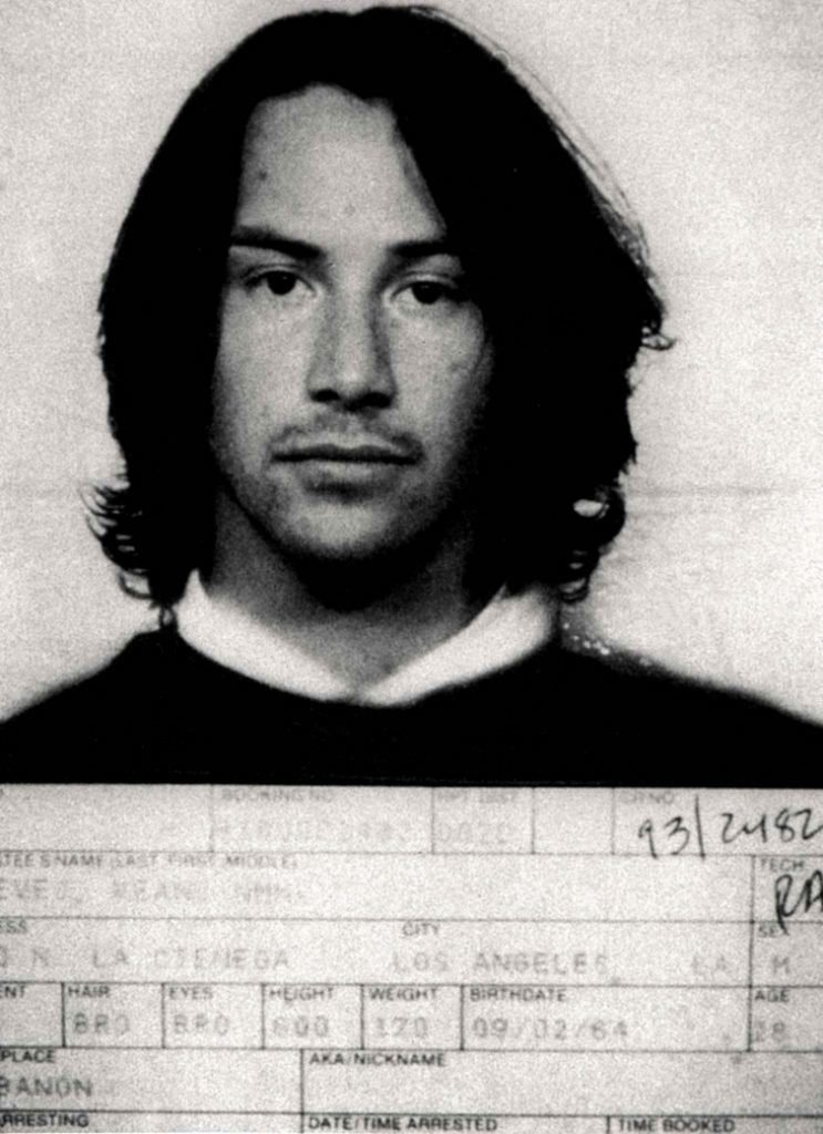 Киану Ривз. 1993 год. Вождение в нетрезвом виде. арест, звезды, полиция, правонарушение