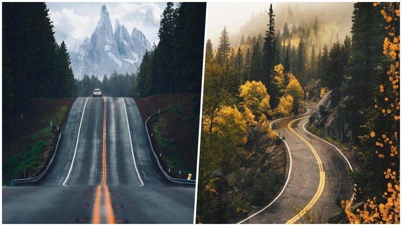 25 чудесных дорог, которые так и манят отправиться в путешествие (26 фото)