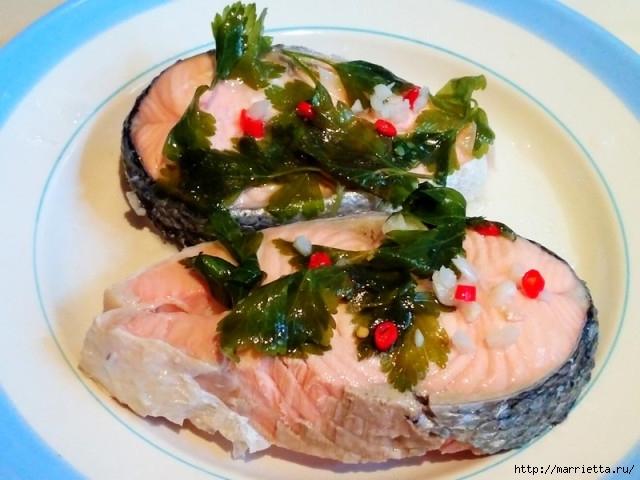 Рыба в киндзмари по-имеретински