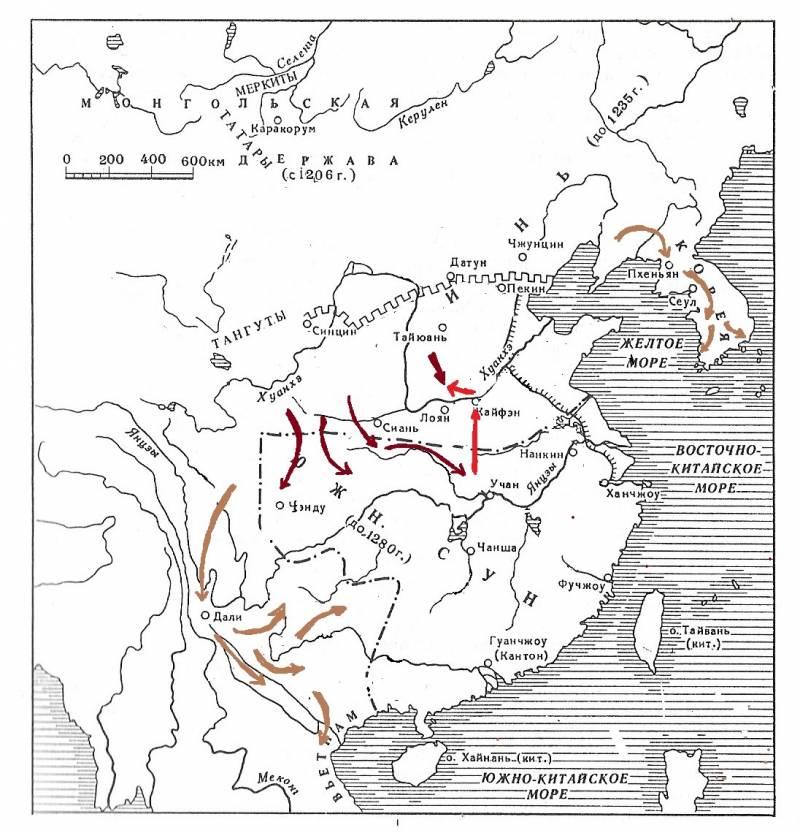 Монголы против китайской империи Сун история