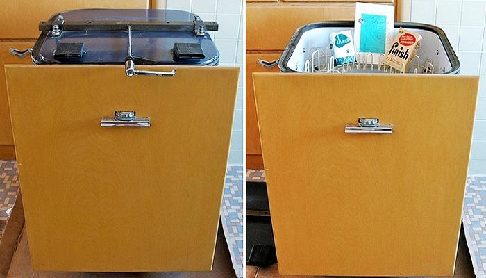 Яркий пример посудомоечной машины 50-х годов прошлого века. | Фото: pic-words.ru.