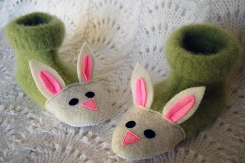 Шъём детские тапочки зайчики