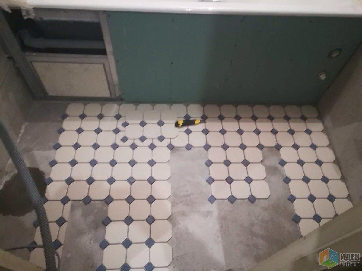 Маленькая ванная в ретро стиле. Делали все своими силами : я,  папа и  муж