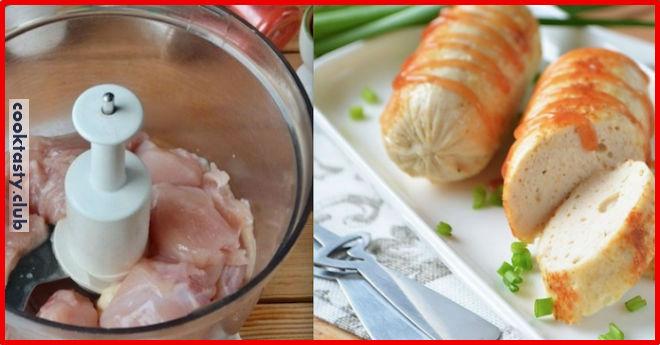 Домашние сосиски из куриного филе для деток