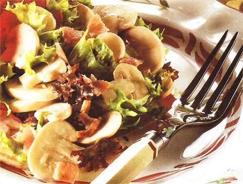 Французский грибной салат