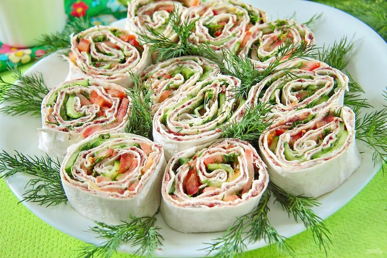 Праздничные блюда из лаваша рецепт с фото