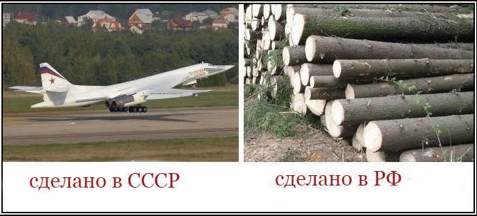 РФ – страна на развалинах более развитой цивилизации по имени СССР