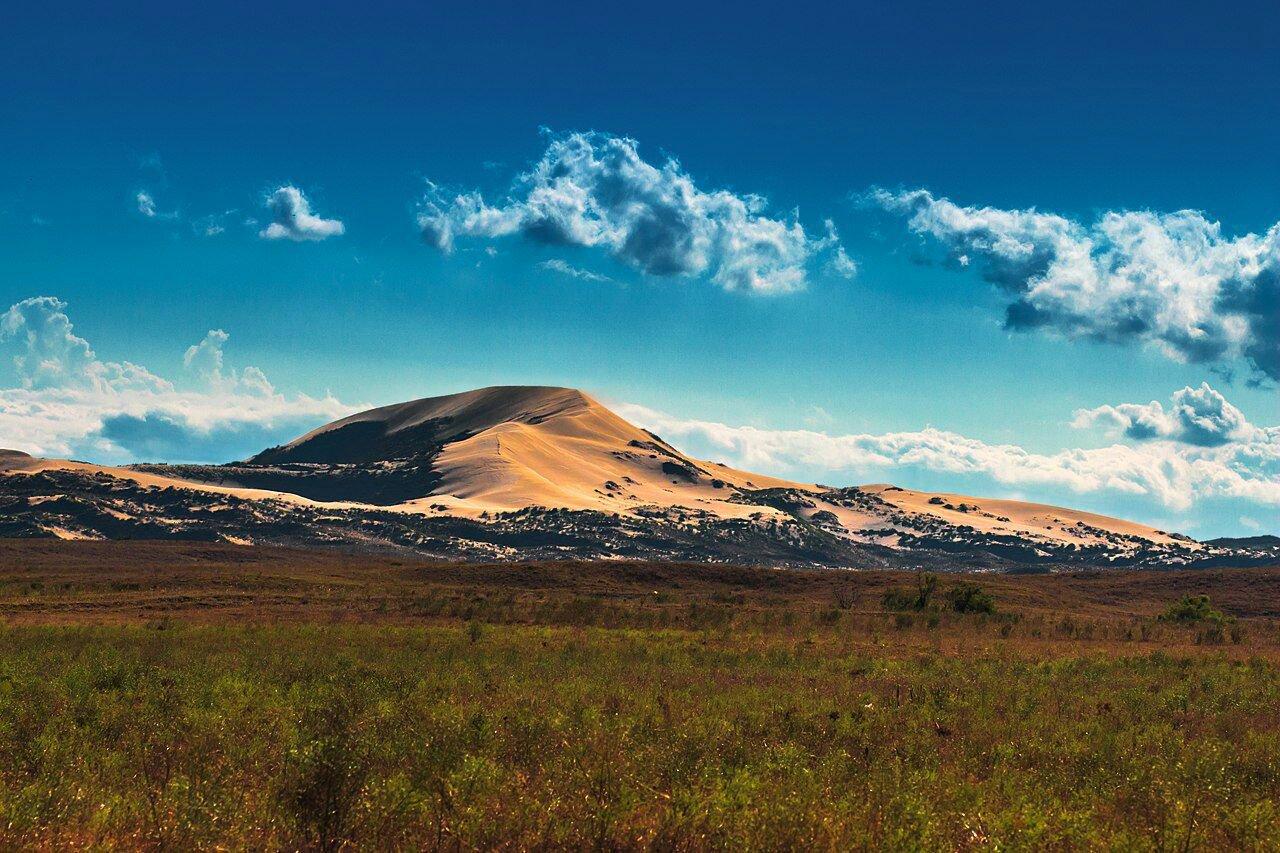 Уникальное природное чудо Кавказа – Сарыкум.  Самый высокий бархан Евразии