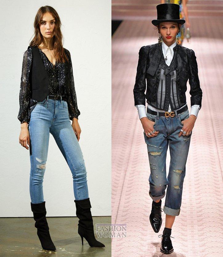 Модные джинсы весна-лето 2019 фото №14