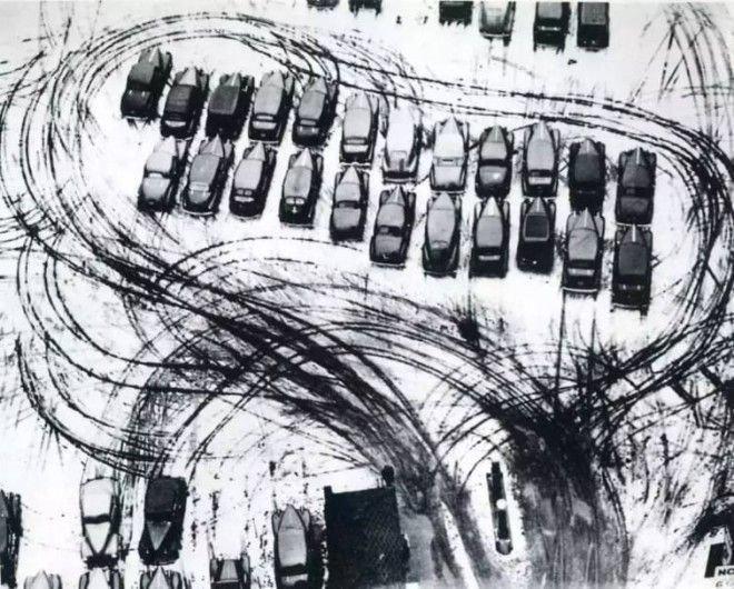 Парковка зимой. Чикаго, 1928 год история, факты, фото