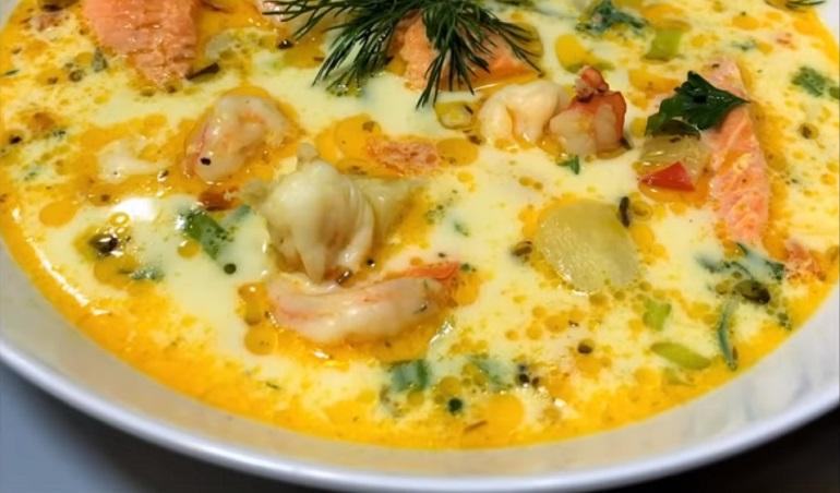 Душевный суп из морепродуктов: и в пир, и в мир