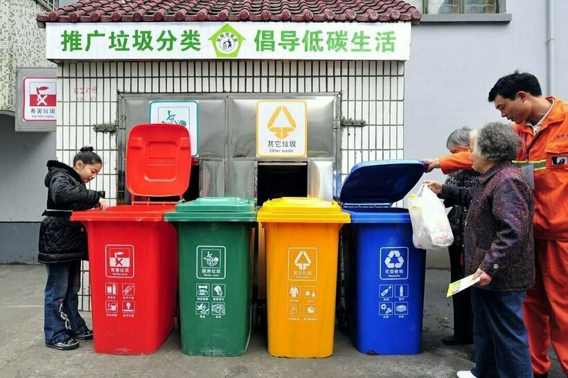 Японцы тщательно сортируют мусор