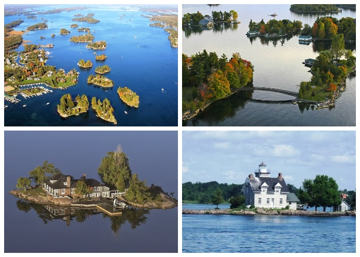 Архипелаг Thousand Islands состоит из 1864 островов (Канада, США). | Фото: tourweek.ru.
