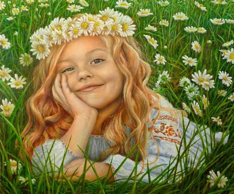 Картинки николаю, открытка девочка в поле