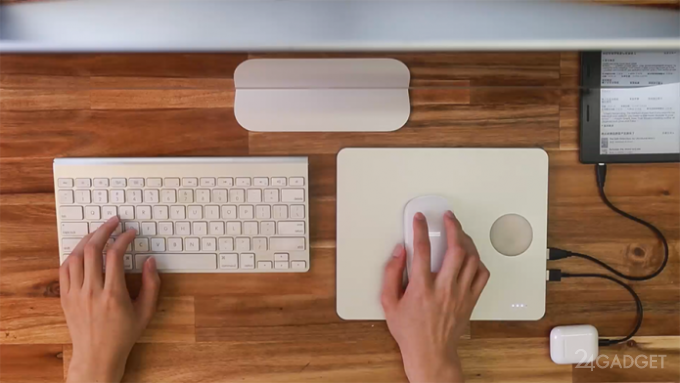 PowerDock: коврик для мыши и пауэрбанк с опцией беспроводной зарядки (7 фото + видео)
