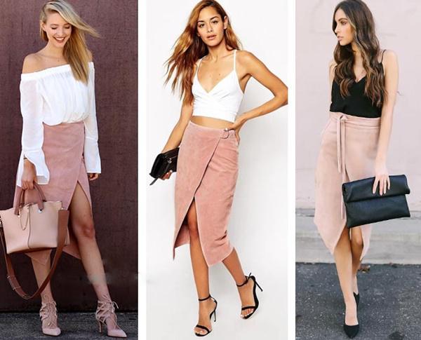 Замшевые юбки – осенний тренд 2019
