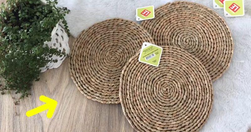 Неожиданно удачная идея из дешёвых плетёных подставок под тарелки