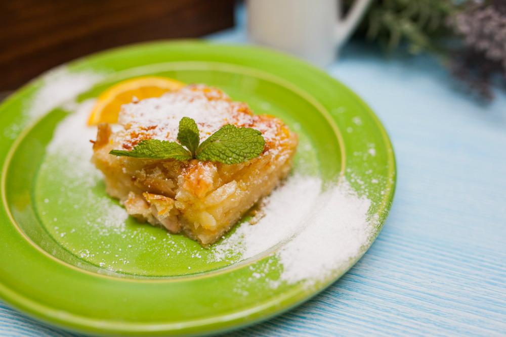 Быстрый апельсиновый пирог по-гречески