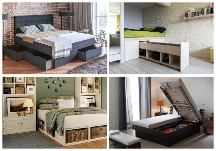 Кровать – идеальное место для скрытых систем хранения.