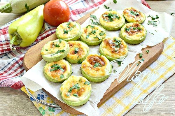 рецепт Запеченные кабачки с сыром в духовке