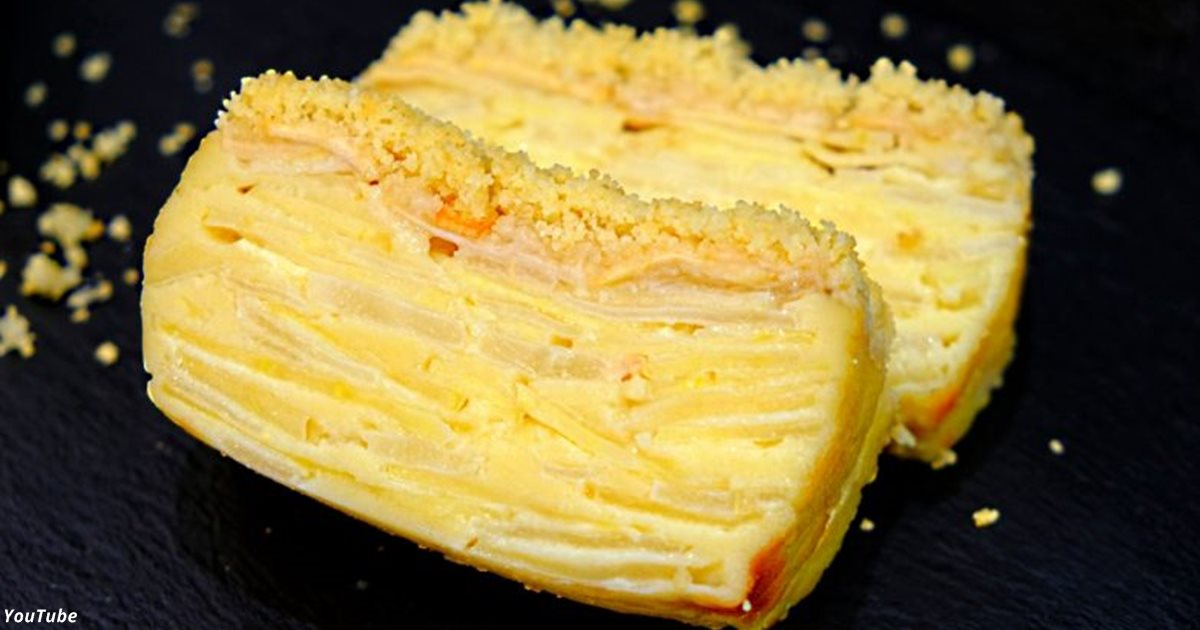 Яблочно-грушевый пирог, где даже тесто как крем!