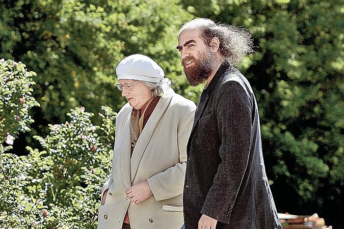Григорий Перельман с мамой Любовью Лейбовной. Фото. Grigory Perelman