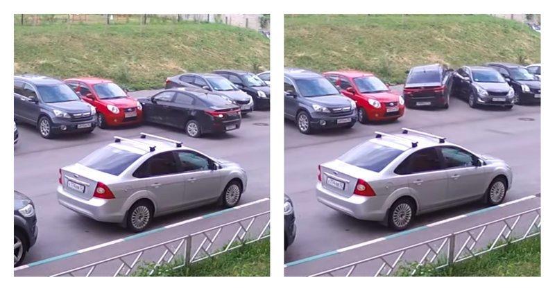 Лайфхак: как выезжая с парковки, зацепить четыре соседние машины