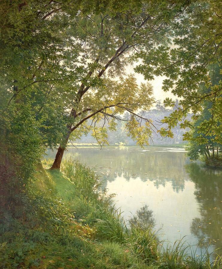 Родная природа в картинах французского художника Henri Biva