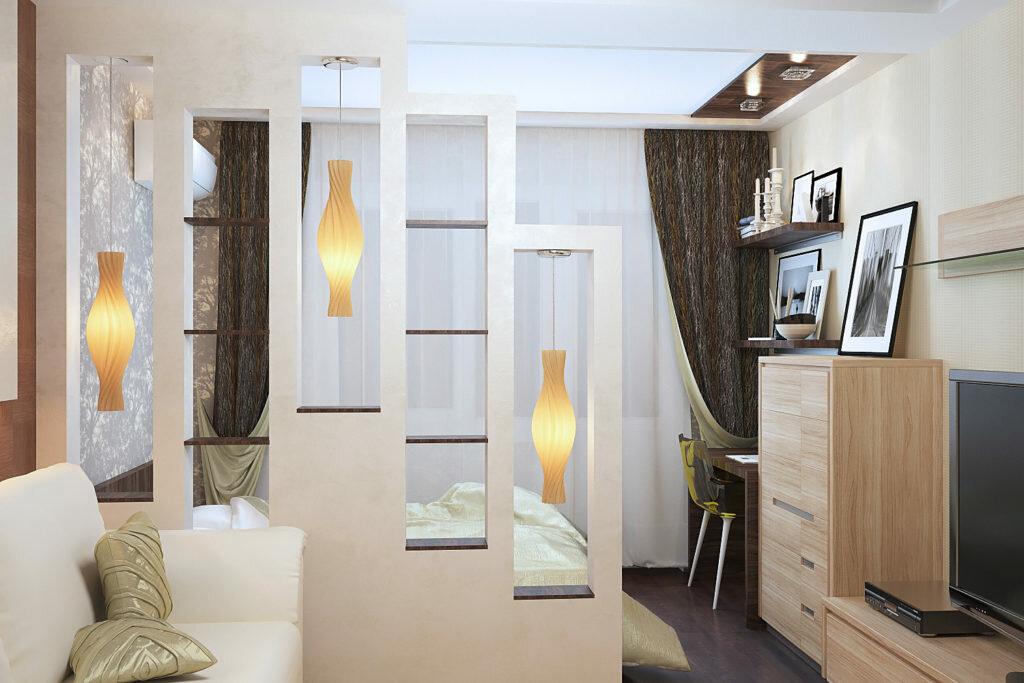 зонирование комнаты в коммунальной квартире фото популярный метод