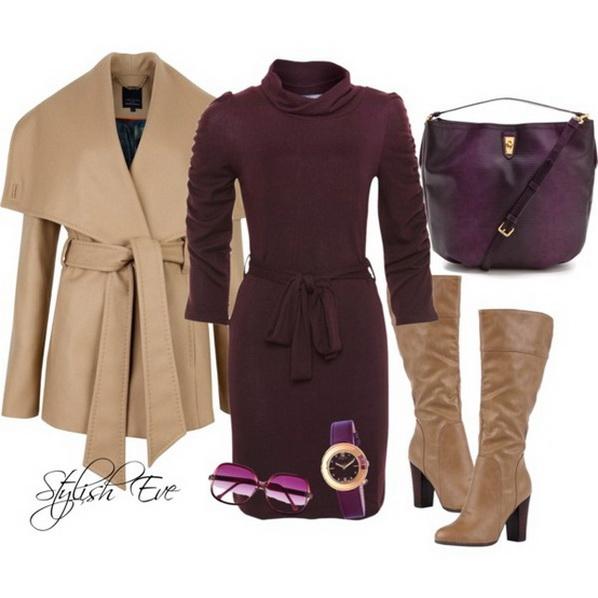 Осень пришла, а нам не страшно — 8 ярких образов с пальто мода, одежда