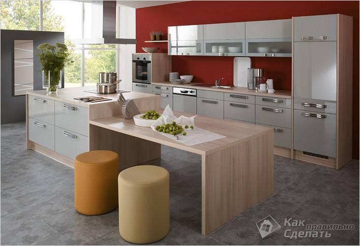 Как совместить кухню и столовую интерьер