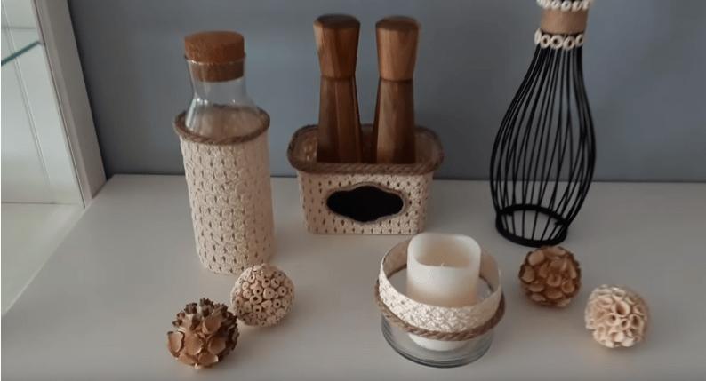Креативные аксессуары для кухни из соломенной шляпки