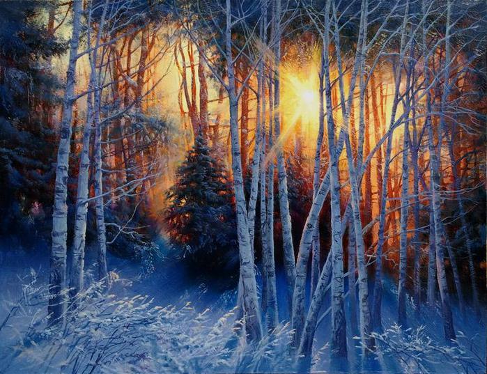 Зимний лес - это сказочный сон: художник Виктор Долгополов