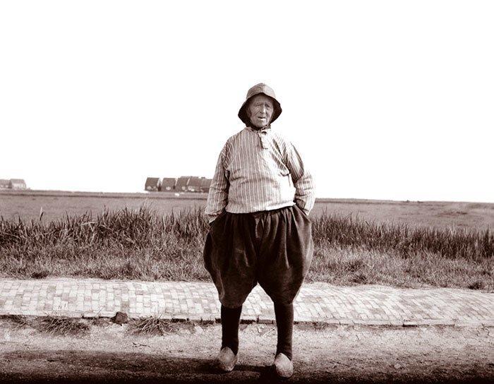 Старый рыбак, Голландия ХХ век, винтаж, восстановленные фотографии, европа, кусочки истории, путешествия, старые снимки, фото