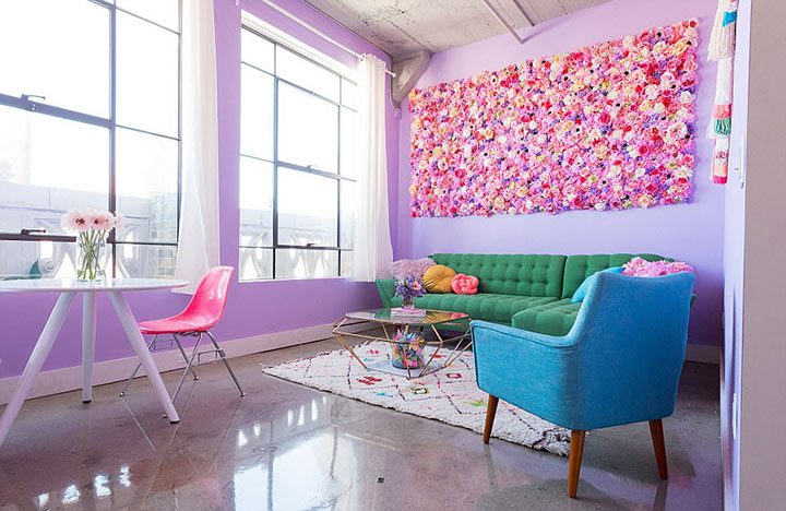 Самая яркая квартира, которую вы когда-либо видели: создана и раскрашена женщиной