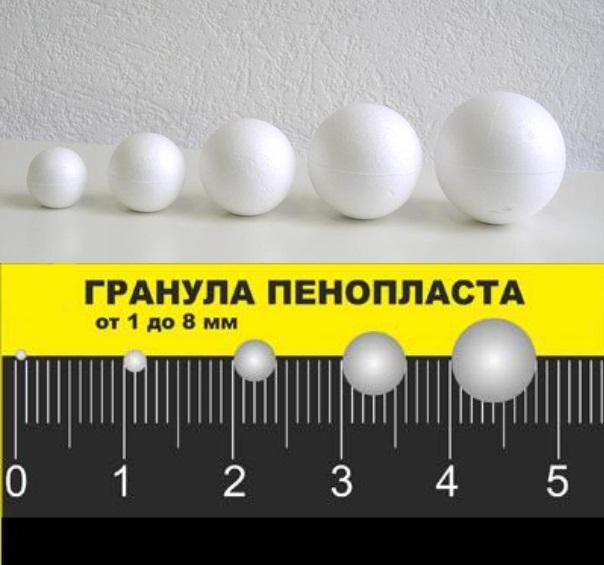 гранулы пенополистирола