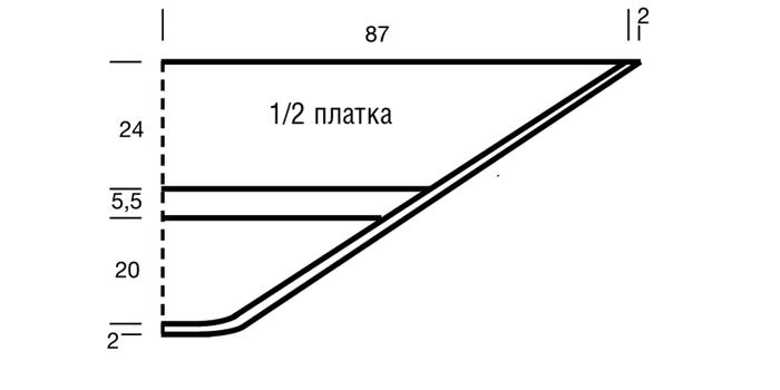 Вязаный платок с ажурным узором вязание спицами