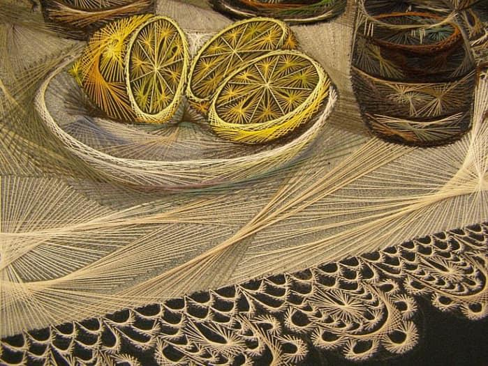 Изумительная геометрия нитей от талантливой мастерицы вышивка