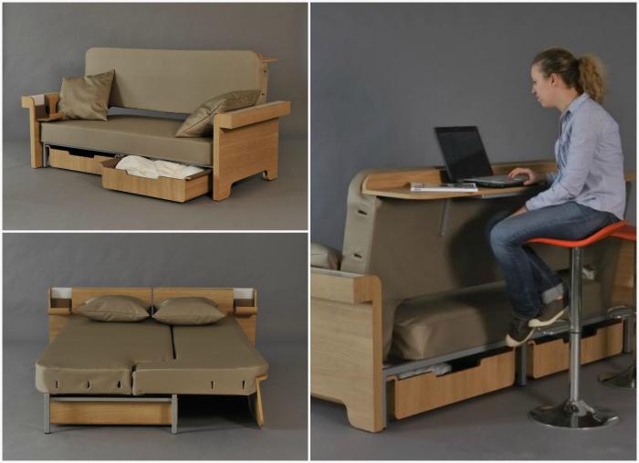 Многофункциональный диван-трансформер.