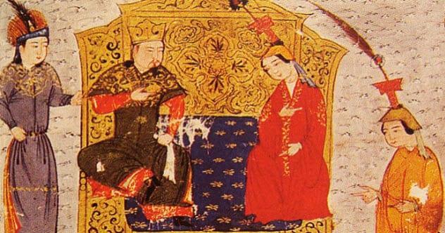 Чингизхан - защитник прав женщин.