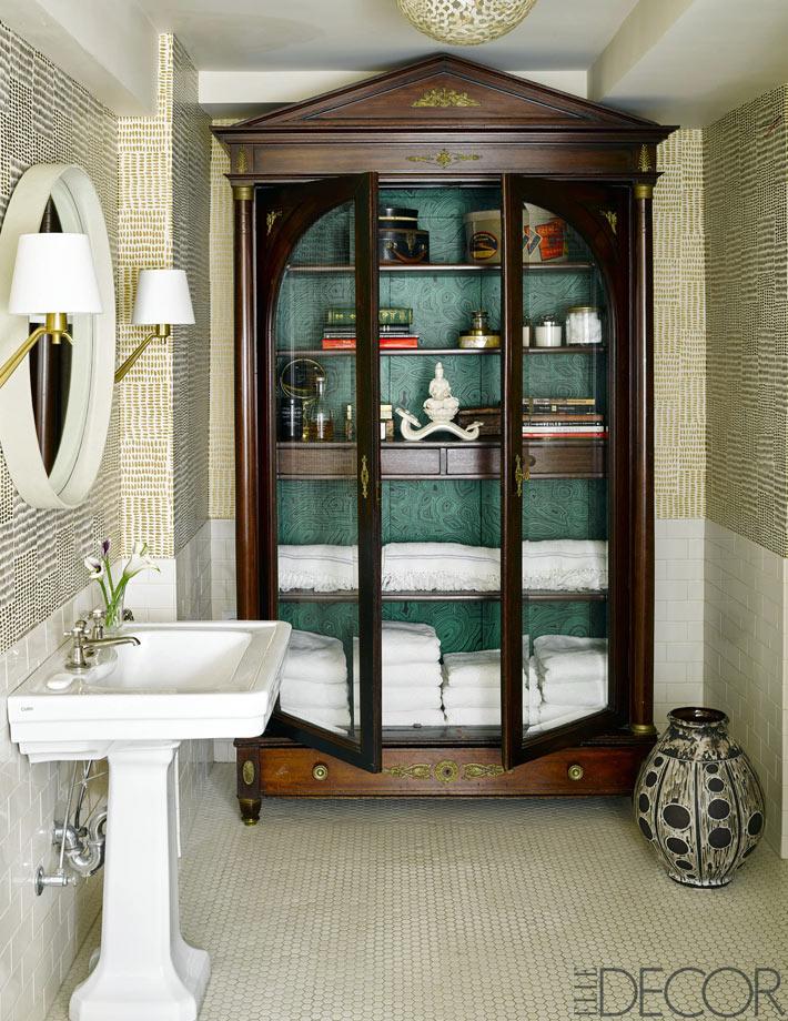 Красивый шкаф в ретро стиле в ванной комнате идеи для дома,интерьер и дизайн