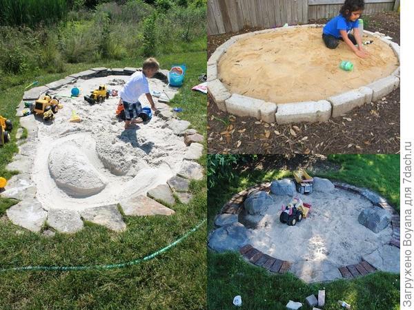 Песочницы из камня. Фото с сайта ru.pinterest.com