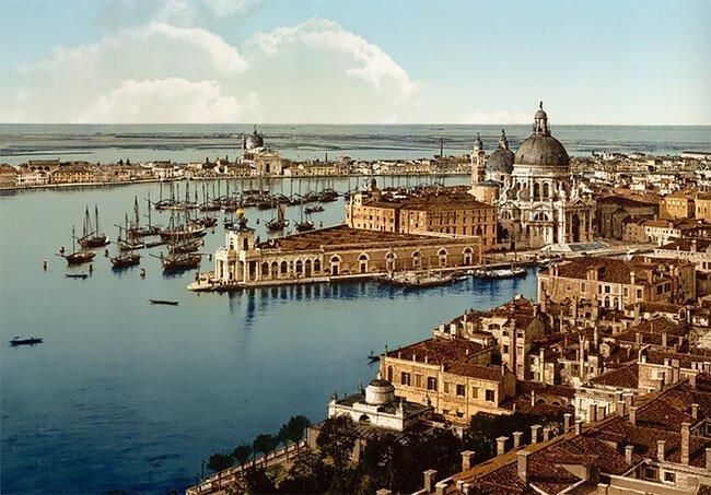 Венеция, Италия, 1890-е интересно, исторические кадры, исторические фото, история, ретро фото, старые фото, фото