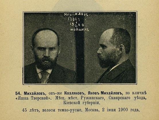 Воры старой формации :  служебный документ  для чинов полиции 1903 года