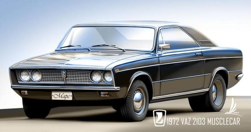 Muscle Car из ВАЗ 2103. автомобили, ваз, газ, концепты, российские автомобили, уаз